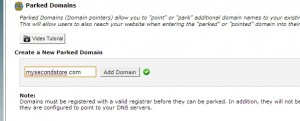 Parked Domain in cPanel